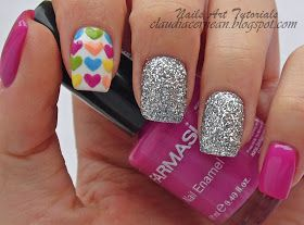 Nails Art Tutorials: Unghii cu Inimioare - Hearts Nails