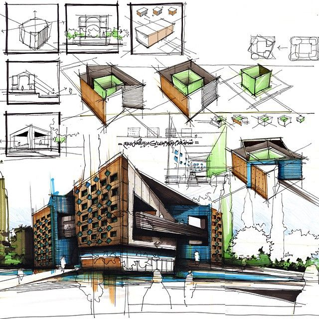 my design process sample to develope and create building sketches