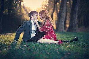 Susan Fox YOUNG COUPLE EMBRACING