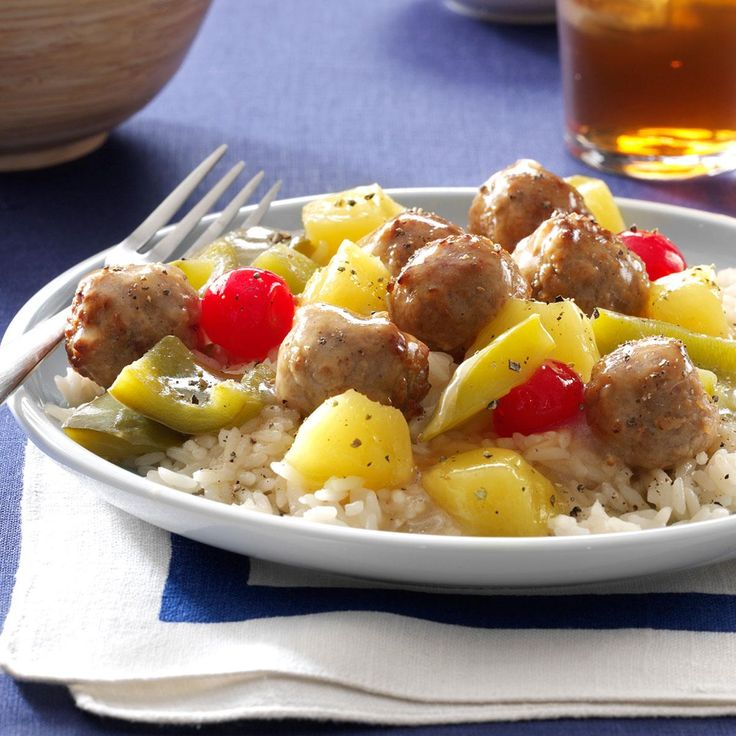 Hawaiian Meatballs Recipe -Talk about one easy dish that creates an amazing sweet and sour sauce! You can serve over rice for more of a dinner-like option, but I also like to offer them as an appetizer simply served with toothpicks. —Julie Schiefer, Nappanee, Indiana