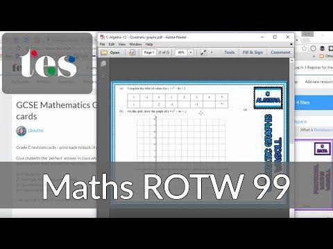 GCSE Maths Revision Cards - TES Maths Resource of the Week 99 - Mr Barton Maths Blog