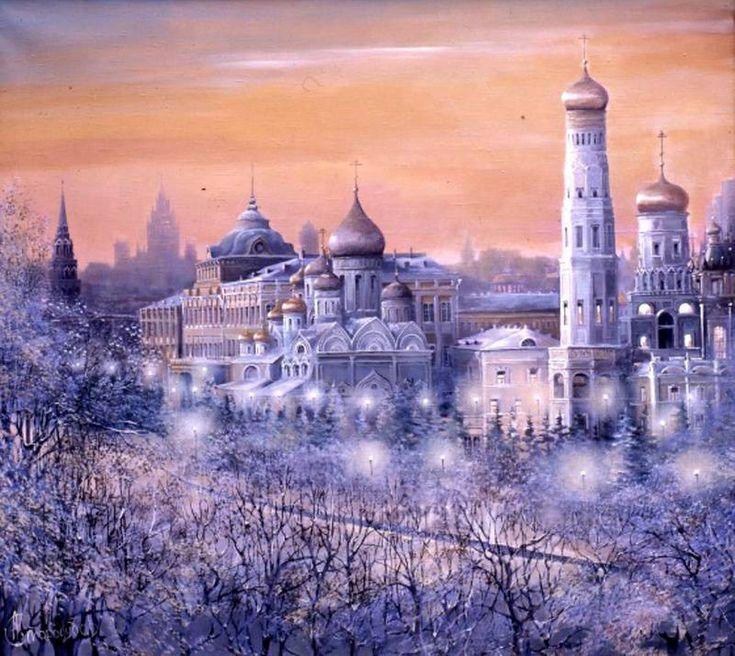 Старая Москва на картинах А.Стародубова.