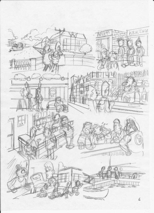 HOMMAGE À ALAIN SAINT-OGAN : Zig, Puce et Alfred : planche 6 - Esquisse  #bd   #alainsaintogan   #zigetpuce    http://frederic.baylot.org/post/13914-zpa6
