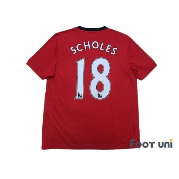 Manchester United 2009-2010 Home Shirt #18 Scholes FIFA World Champions 2008 Patch/Badge #nike - Football Shirts,Soccer Jerseys,Vintage Classic Retro - Online Store From Footuni Japan