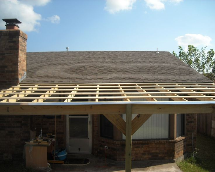 How to build a patio cover with a corrugated metal roof for Cost of building a roof