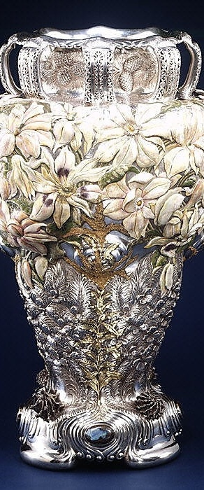 The Magnolia Vase, Tiffany  Co circa 1893