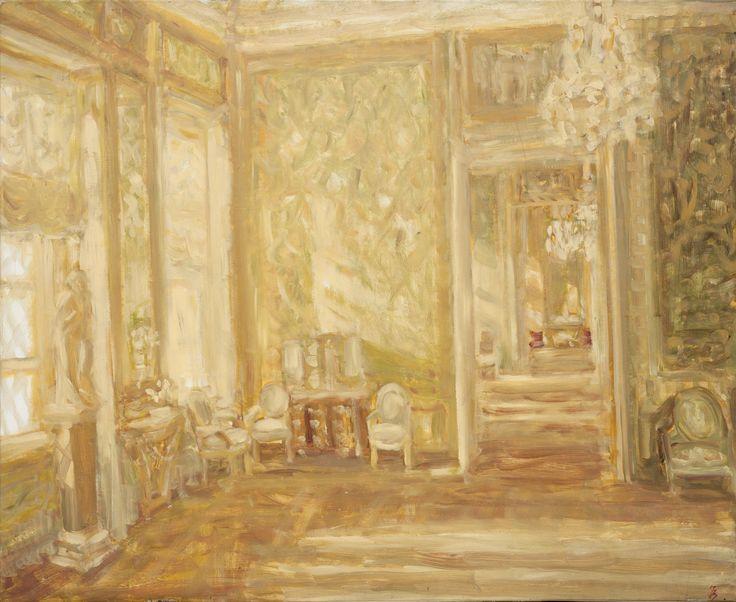 Ioana Batranu Melancholic interior   *(golden) oil on canvas, 2005