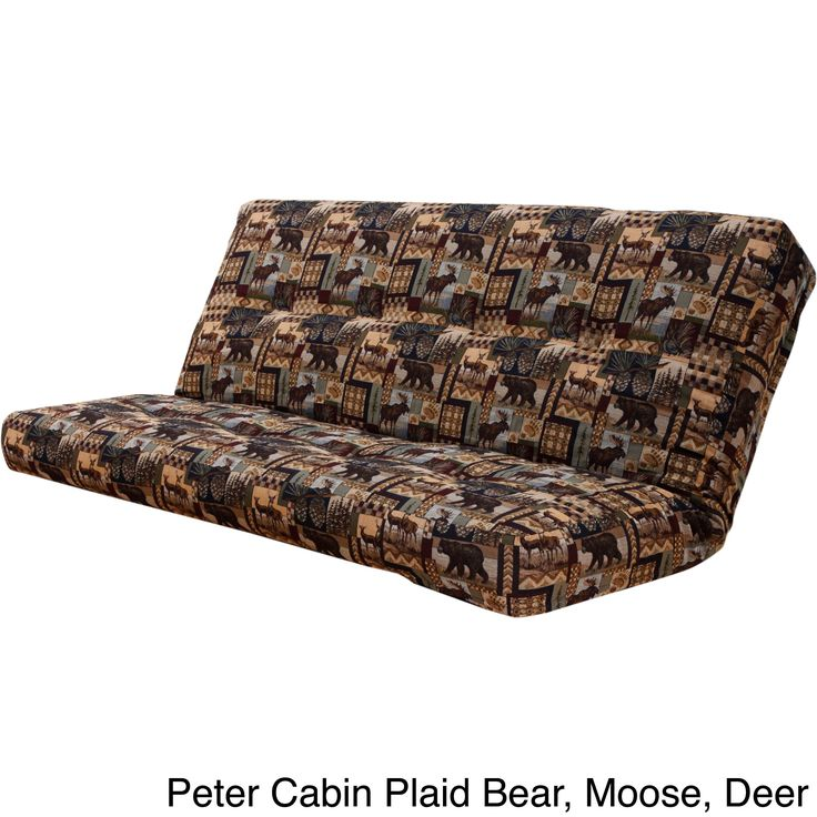 Somette Outdoor Lodge Full Size Futon Cover Brown Fabric
