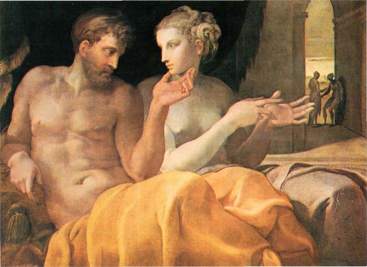 Francesco Primaticcio - Reunion of Penelope and Odysseus. Tags: penelope, odyssey, odysseus, ulysses,