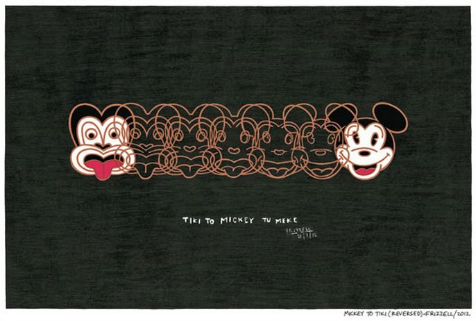 Mickey to Tiki Reversed. Dick Frizzell www.imagevault.co.nz