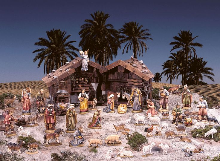 Bello Belén Aleman - Beautiful German Nativity  #Weihnachtskrippe #Nativity #Nacimiento #Belén