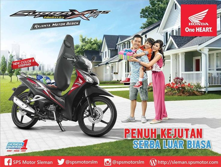 Temukan banyak kejutan di setiap perjalanan bersama motor bebek andalan keluarga  #HappyWeekend  #Hondaistimewa #Hondajogja #supraxhelmin #spsmotor #spsmotorsleman