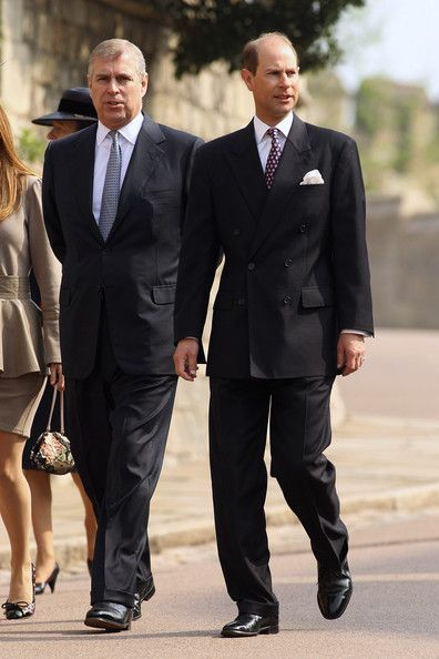 Princes Andrew and Edward.  Andrew is 4 years older than Edward, but the age difference seems greater than that.