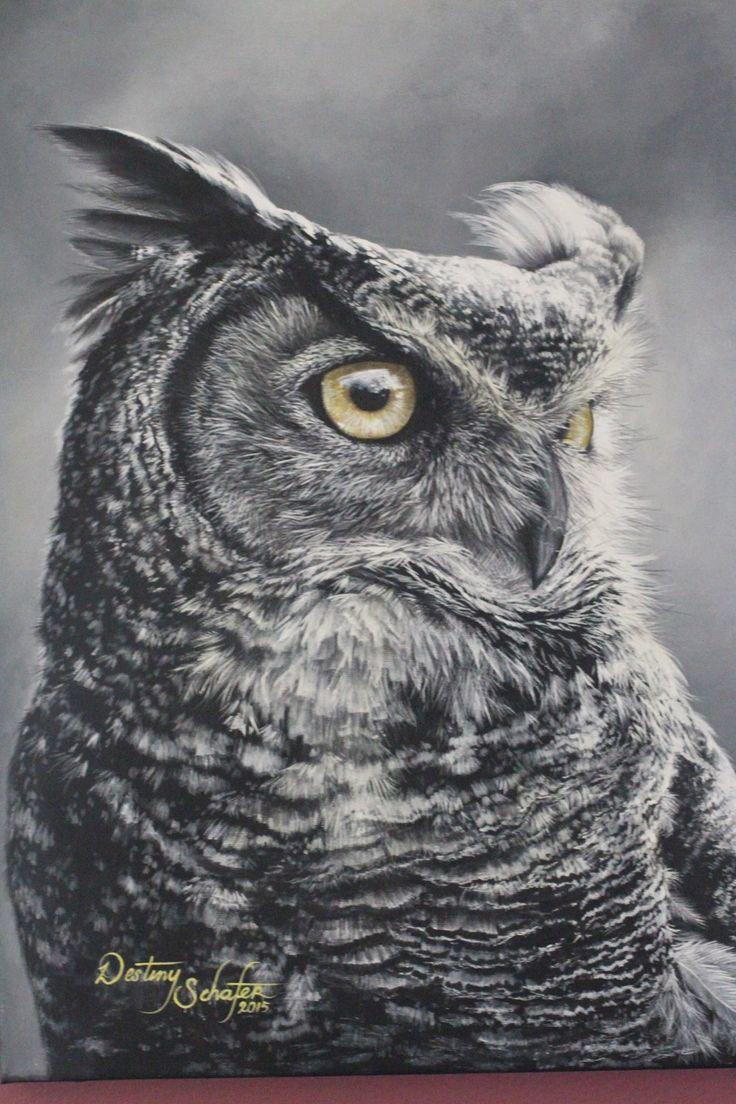 Owl (12 x 16, Acrylic, 2015)