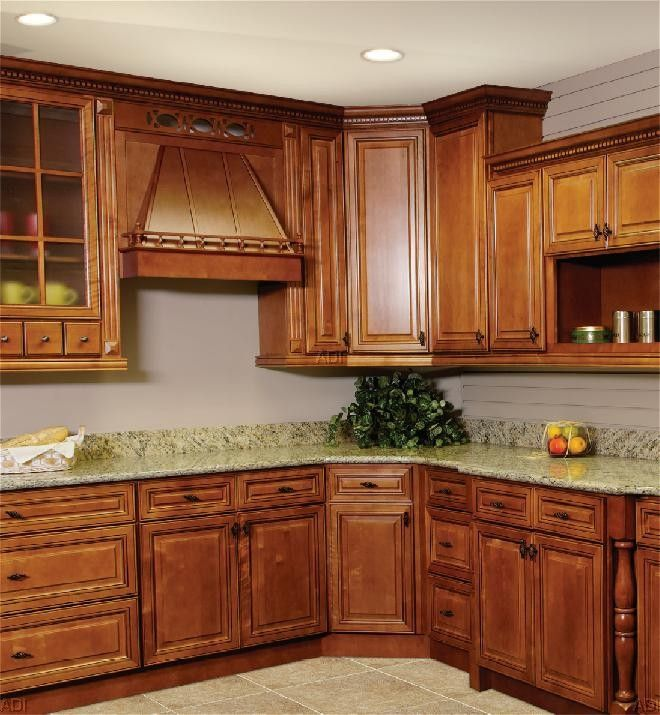 Manhattan maple cabinets an impresssive spice cherry for Cheapest rta kitchen cabinets