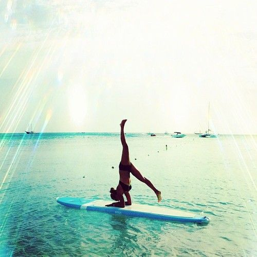 I gotta do some yoga next time i get out on my paddle board. The Cutest Beachy Apparel Online! Pack for your next vacation at Qtee.com