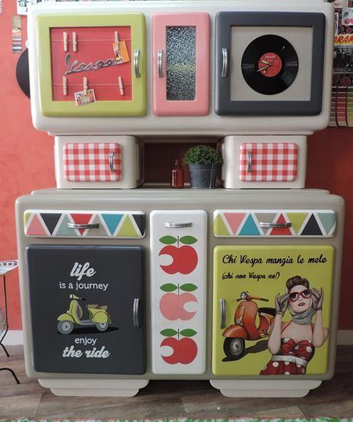 Mamzelle t r benthine peintre en d cors relooking de meubles buffet ann e 5 - Relooking meuble vintage ...