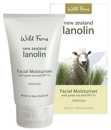 New Zealand Lanolin Moisturiser with Green Tea and SPF15+