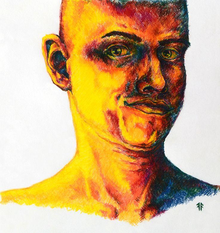 Coloured Portrait (by Fikus), Coloured Crayons
