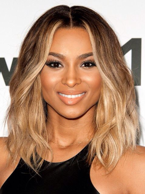 Ciara Blonde Brown Long Bob Hair Ideas Pinterest