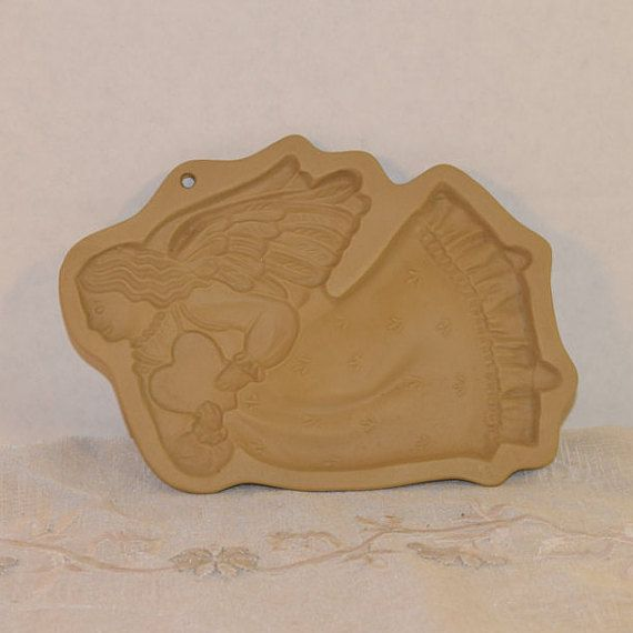 Brown Bag Cookie Art Angel Stamp Vintage by ShellysSelectSalvage