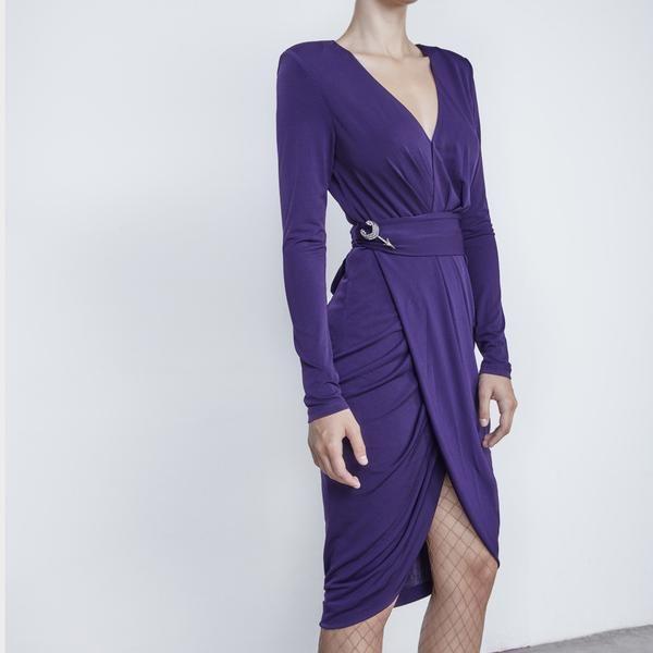 Vestido Lana Purpura FW16