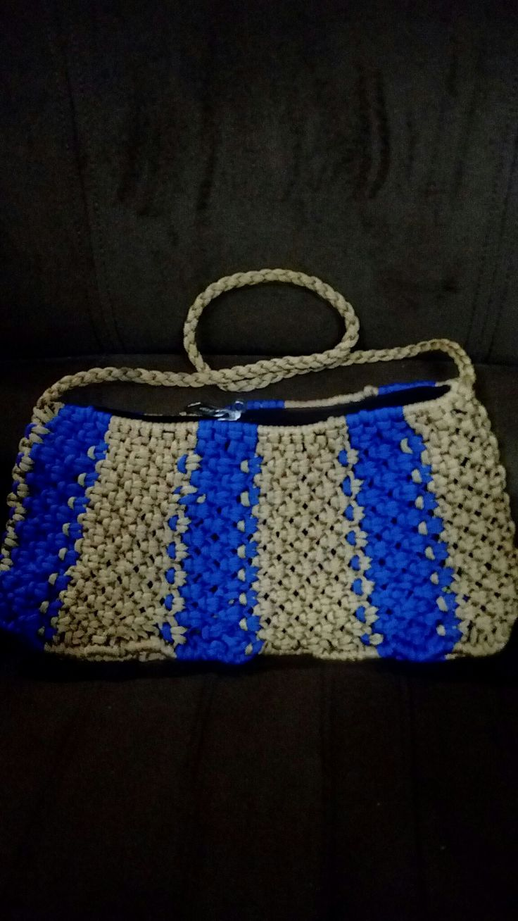 Gold and blue party bag