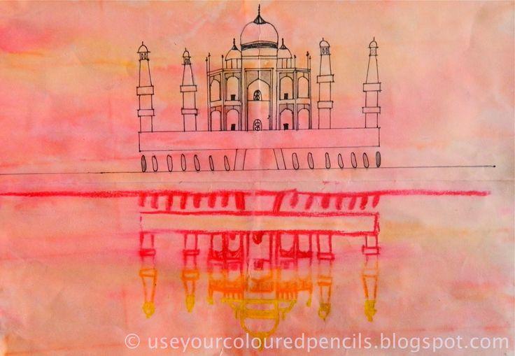 Use Your Coloured Pencils: Taj Mahal Drawings