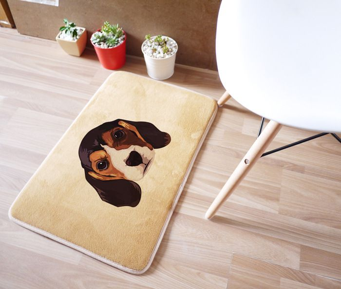 40 x 60 см такса собака ковер для гостиной спальня прямоугольник коврики кораллов бархат замшевые коврики tapetes де cozinha украшения дома