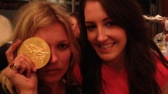 GB cyclist Dani King meets Kate Moss