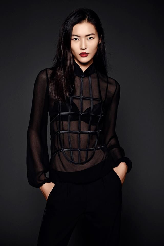 Loving this new shot of Liu Wen wearing La Perla in her official portrait for #EML2013 Elite Model Look International
