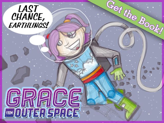 Writing a new story with girls in the lead and space as the stage. Grace from Outer Space: A STEM Heroine to Inspire Girls by Jenna Bryson — Kickstarter