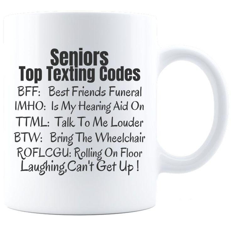 Seniors Texting Code, 65th Birthday Gift , Retirement Gift