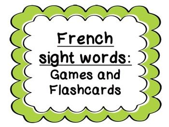 French sight word games - Bang/Loto/Bug in a rug/Memory -