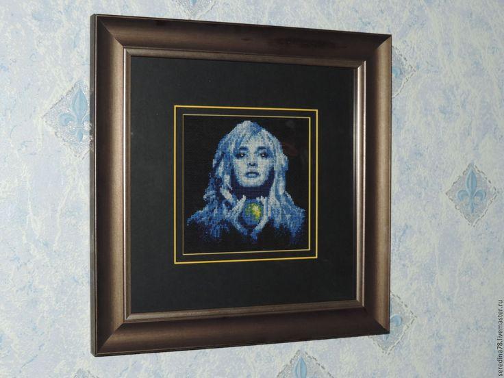 """Купить Вышитая картина """"Магия Совершенства"""" - черный, совершенство, магия, девушка, волшебство"""