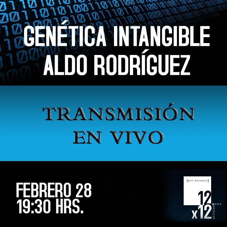 """Te invitamos a seguir hoy nuestra transmisión en vivo por Internet, la inauguración de la expo """"Genética Intangible"""" de Aldo Rodríguez. Jueves 28 de febrero de 2013.   Desde las instalaciones del MASIN.  A las 19:30 horas en el siguiente link:  http://www.ustream.tv/channel/isictv"""