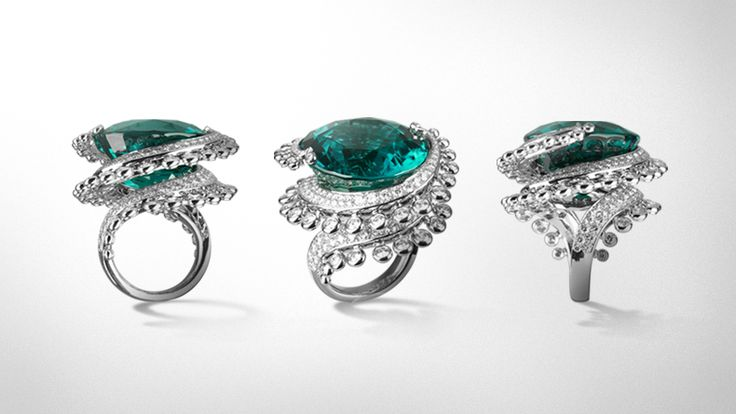 Tourmaline Ring from Van Cleef & Arpel's L'Atlantide high jewelry collection.