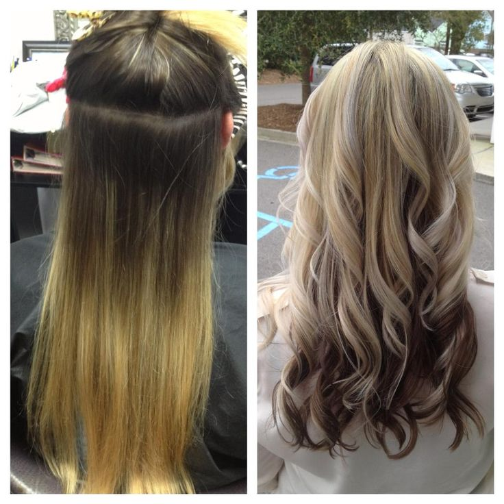 bottom blonde black on on top