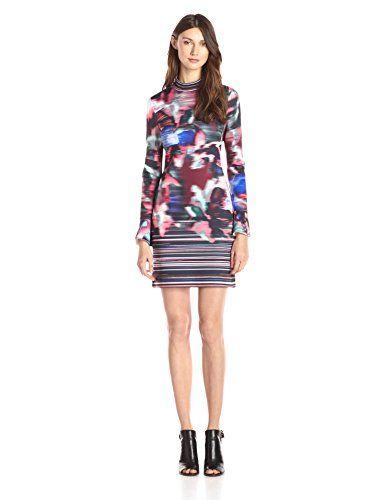 CLOVER CANYON Clover Canyon Sportswear Women's Floral Ikat Long-Sleeve Dress. #clovercanyon #cloth #