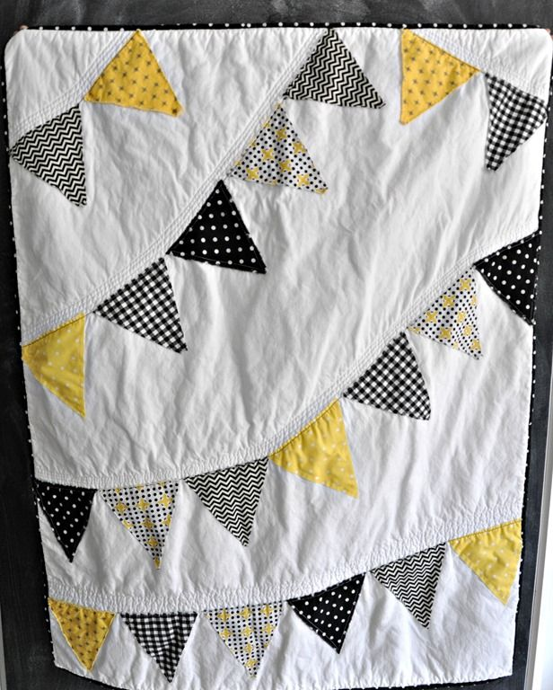 Neutral Colours - Baby Quilt:  Hawkeye Inspired Baby Quilt