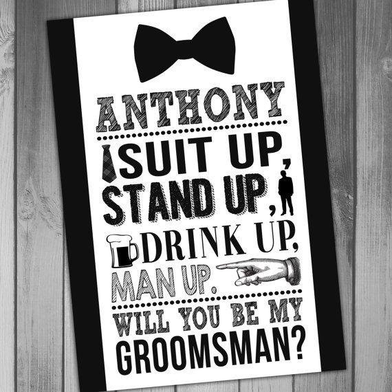 Groomsman Invitation Groomsmen Invitation Will You by CLaceyDesign