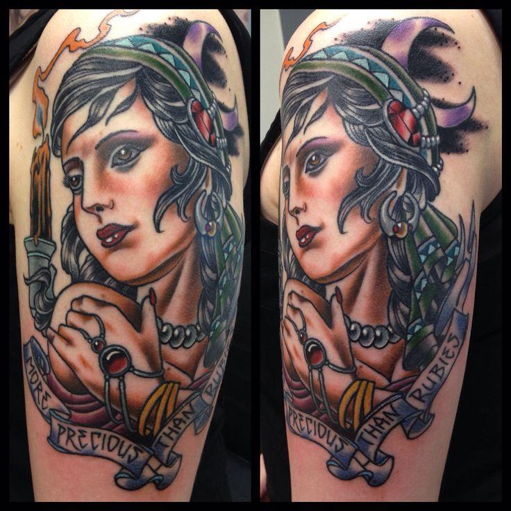 Gypsy portrait. #neotraditional #tattoo