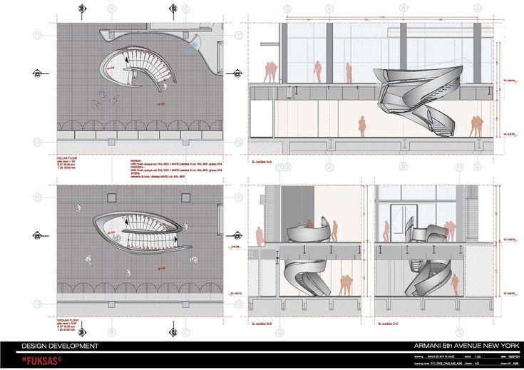 Armani fifth ave massimiliano doriana fuksas stair for Giorgio aldo interior designs