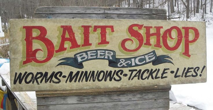 Bait & Tackle sign by zeke