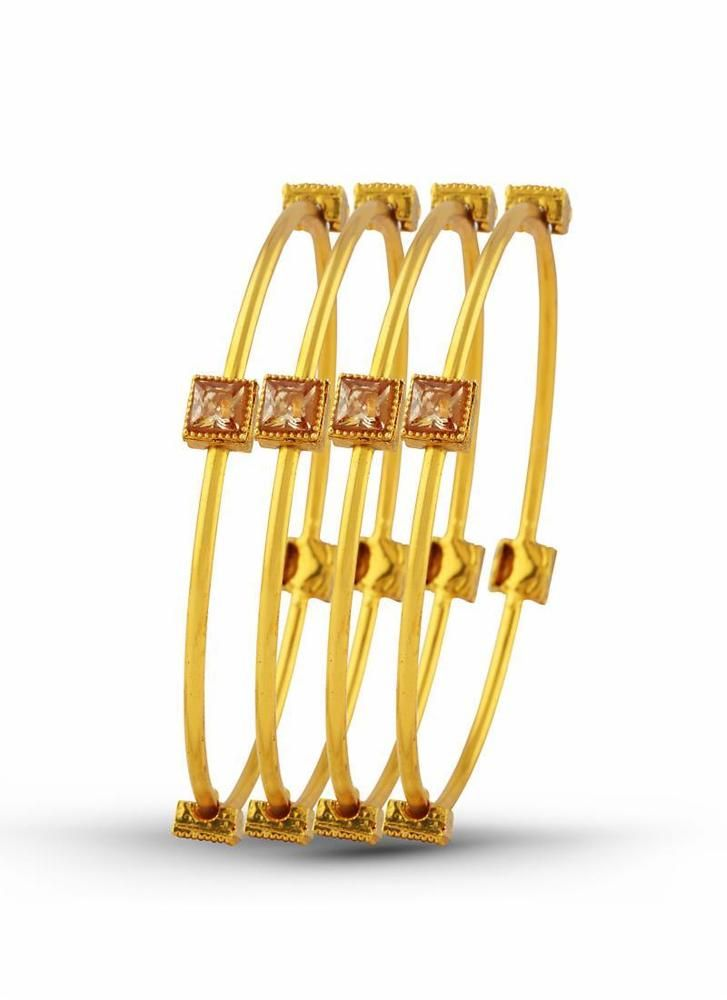 Gold Women Designer Bracelets Fashion Jewelry Bangles Party Armlets Cuff Charm #KriyaCreation