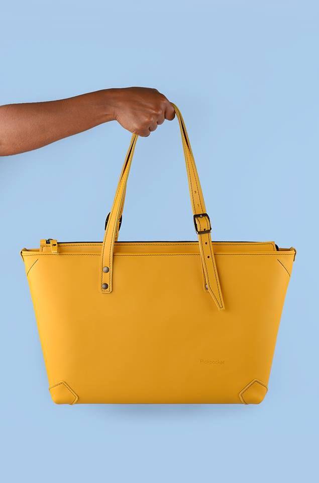 Pickpocket - Apside Bag - Leather Bag, Bag, Yellow Leather, Pickpocket Bags, Pickpocketbags.