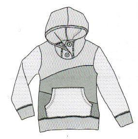 Men's hoodie, free pattern to print