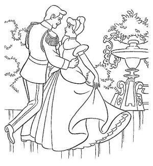 Cinderella coloring page 5