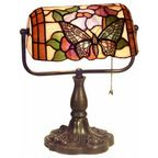 Indoor 1-light Dragonfly Bronze Banker Desk Lamp - Traditional - Desk Lamps - by Warehouse of Tiffany, Inc