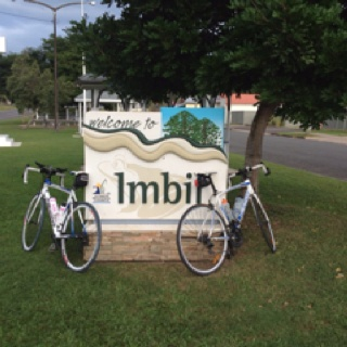 Imbil is a great place to camp but a tough place to ride! Lots of hills but a great sense of achievement when you get to the end. An 11% gradient on a climb on the way into town and a 10% gradient climb for the last hill before home :)